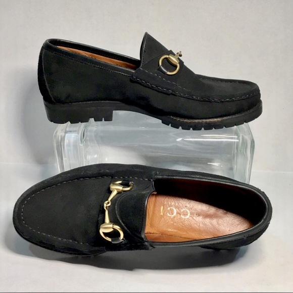 fd97f0248fd64 Gucci Shoes | Mens Black Suede Horsebit Loafers | Poshmark